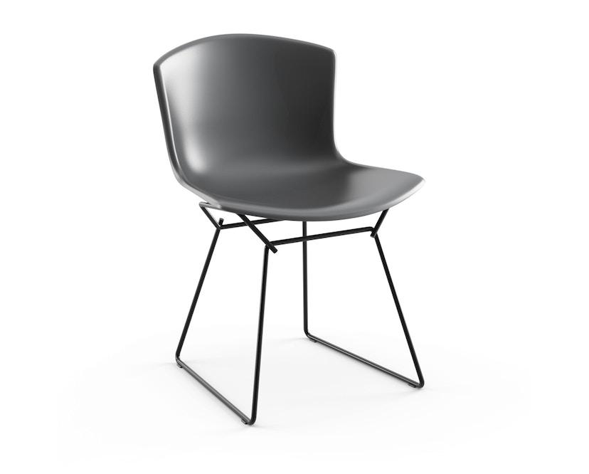 Knoll International - Bertoia Plastic Side Chair - mittelgrau - Gestell schwarz - 0