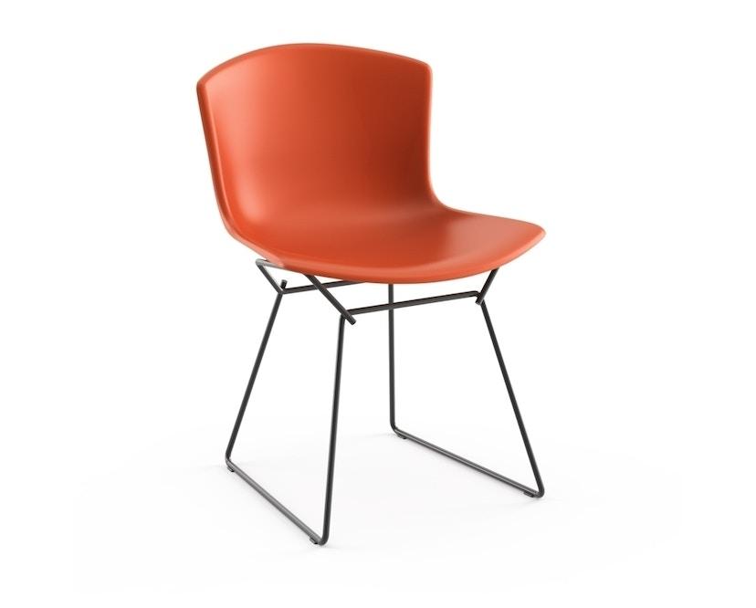 Knoll International - Bertoia Plastic Side Chair - orangerot - Gestell schwarz - 0