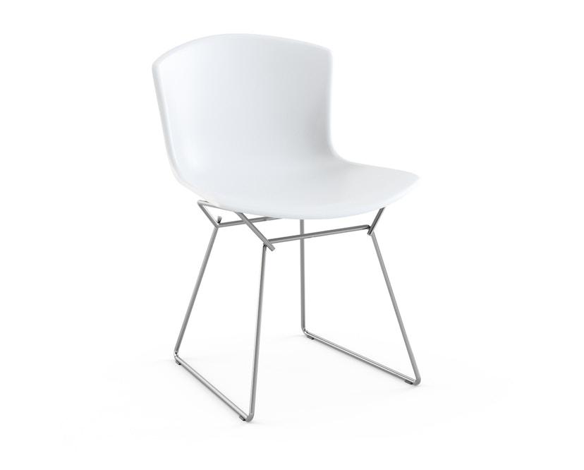 Knoll International - Bertoia Plastic Side Chair - weiß - Gestell chrome - 0