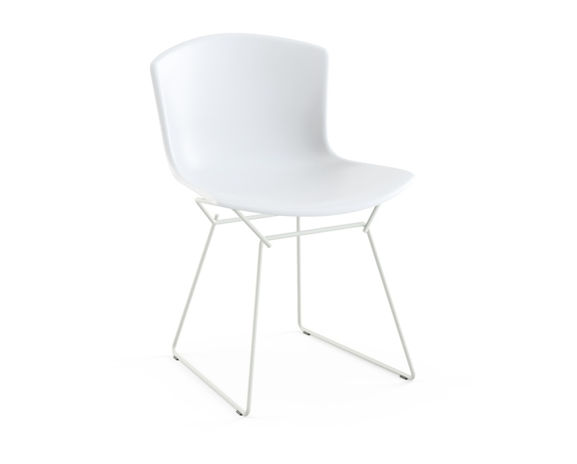 Knoll International - Bertoia Plastic Side Chair - weiß - Gestell weiß - 0