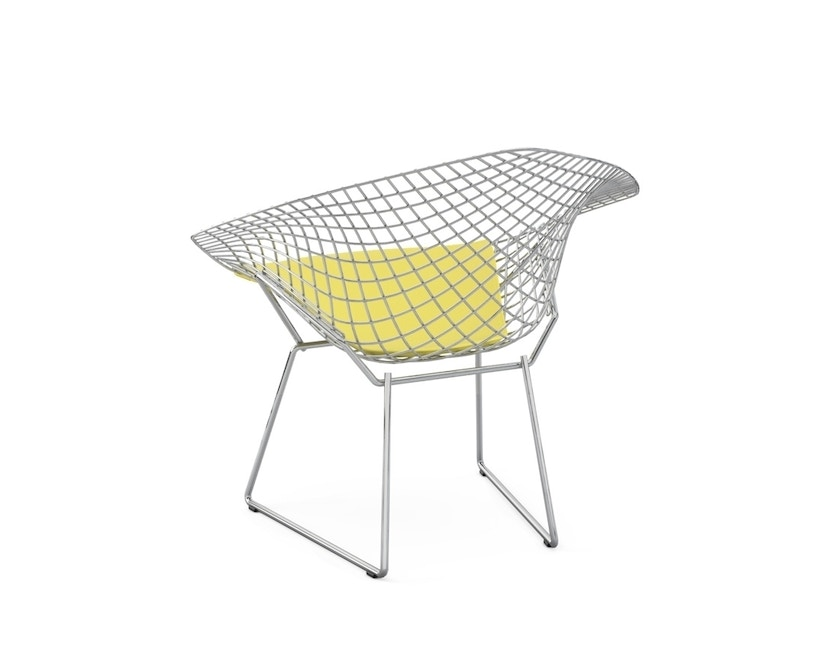 Knoll International - Bertoia Diamond Sessel - Chrom hochglänzende - Vinyl gelb - 1
