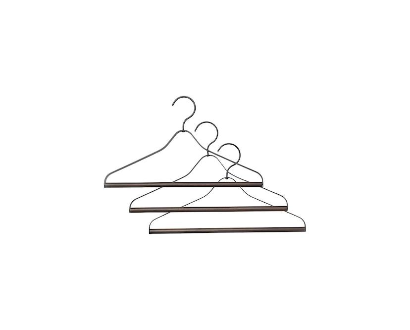 ferm LIVING - Kleiderbügel 3er Set - schwarz - 2