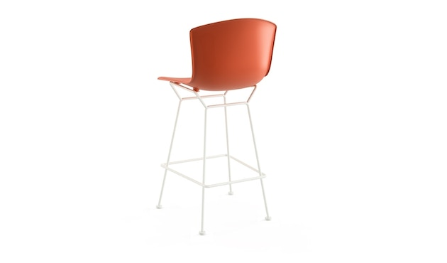 Knoll International - Tabouret de bar Bertoia Plastic  - rouge orange - blanc - 104 cm - 1