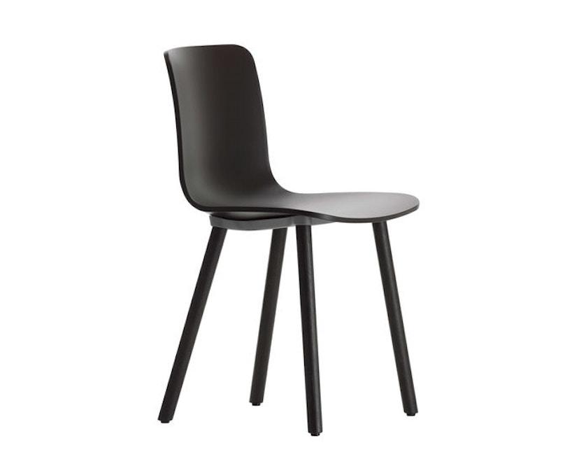 Vitra - Hal Wood stoel - Eiken licht - Eiken donker - zwart - 0