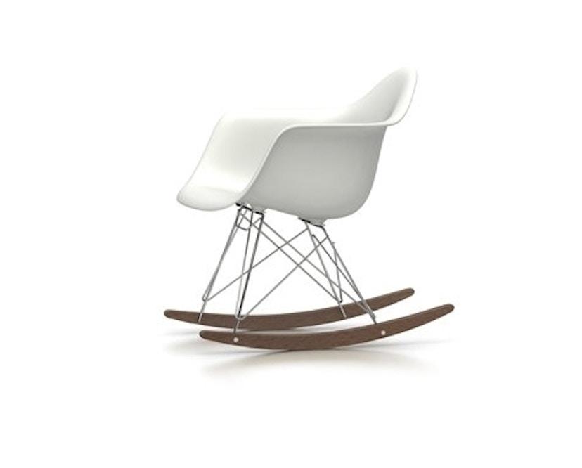 Vitra - Eames Plastic Armchair RAR mit Vollpolster, weiß, glanzchrom, Ahorn dunkel, Hopsak66nero - weiß - 0