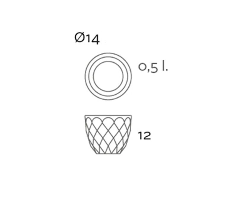 Vondom - VASES bloempot klein - basic - brons - Ø 14 x 12 cm - 2