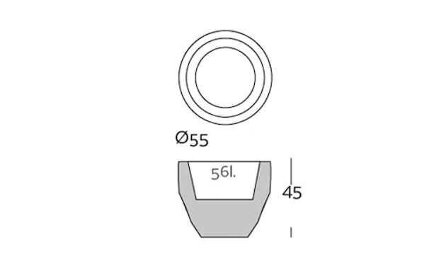 Vondom - VASES Blumentopf groß - navy - Ø 55 x 45 cm - Basic - 2