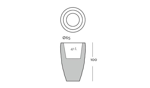 Vondom - VASES Blumentopf groß - weiß - Ø 65 x 100 cm - Basic - 2