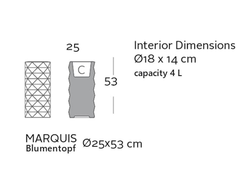 Vondom - MARQUIS Blumentopf - weiß - Ø 25 x 53 cm - Basic - 2
