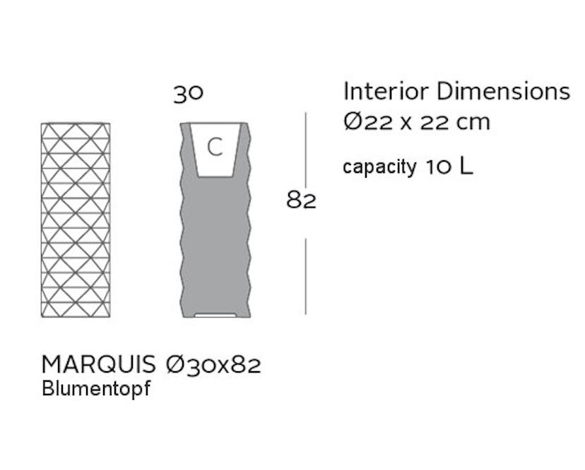 Vondom - MARQUIS Blumentopf - pflaume - Ø 30 x 82 cm - Bewässerungssytem - 2