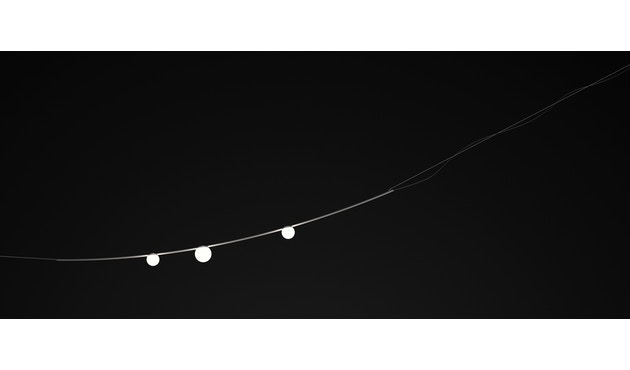 Vibia - June Outdoor-Lichtgirlande - dreiflammig - grau - 2