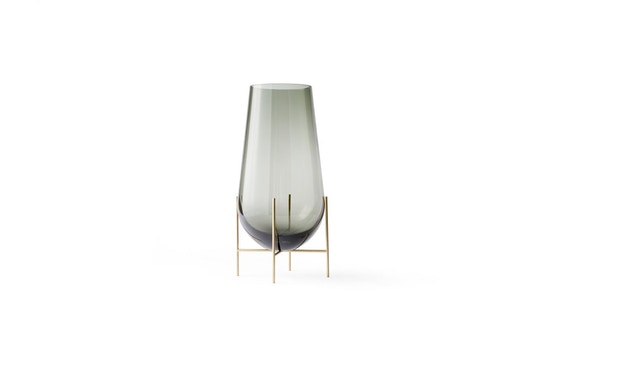 Menu - Echasse Vase - S - rauchglas - 1