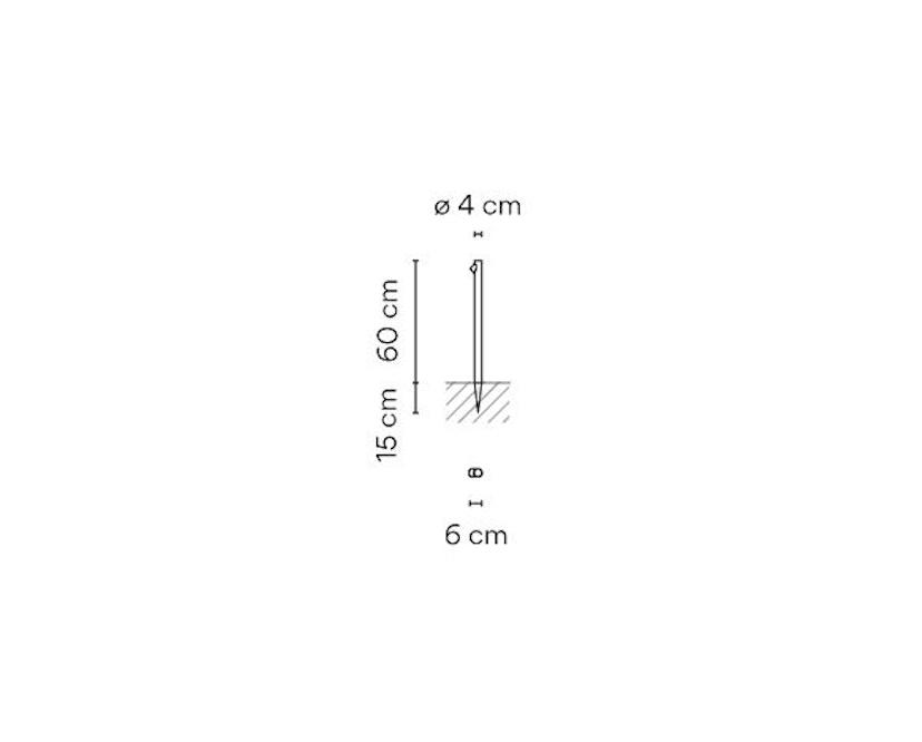 Vibia - Bamboo 4800- Außenleuchte  - cremeweiß - 2