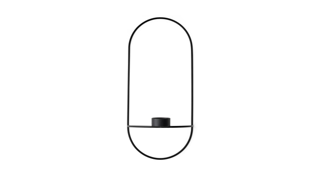 Menu - POV Oval Teelichthalter  - schwarz - 1