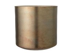 Blumentopf, Gold, Aluminium, L