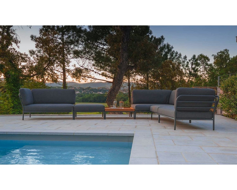 Houe - Level Lounge Sofa - grau - Armlehne links - 2