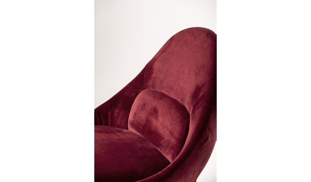 Bloomingville - Dawn Stuhl, Rot, Polyester - 3