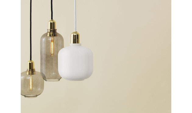 Normann Copenhagen - Suspension Amp brass - Grand - fumé/Laiton - 2