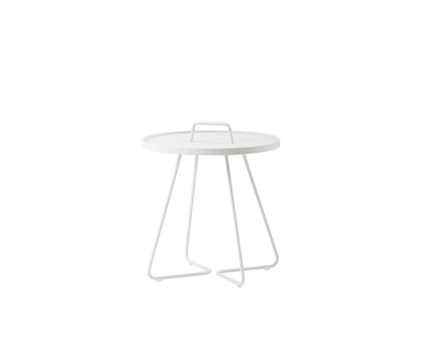 Cane-line - Table d'appoint On the move  - blanc - Ø 37 cm - 1