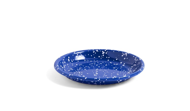 HAY - Enamel tiefer Teller - blue sparkle - 1