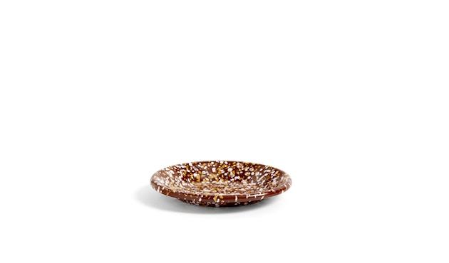 HAY - Enamel kleiner Teller - brown - 1