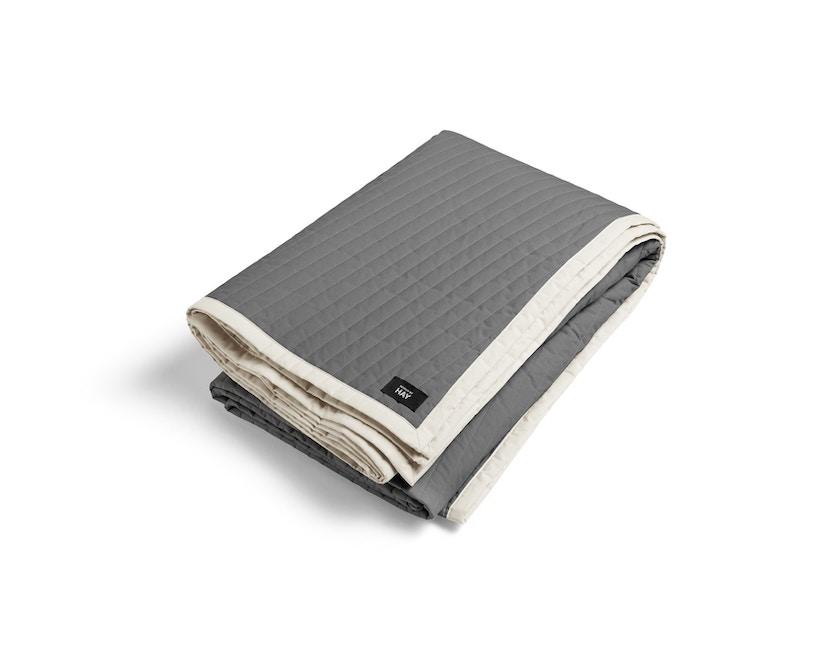 HAY - Bias Quilt Decke - charcoal - 245x195 - 1