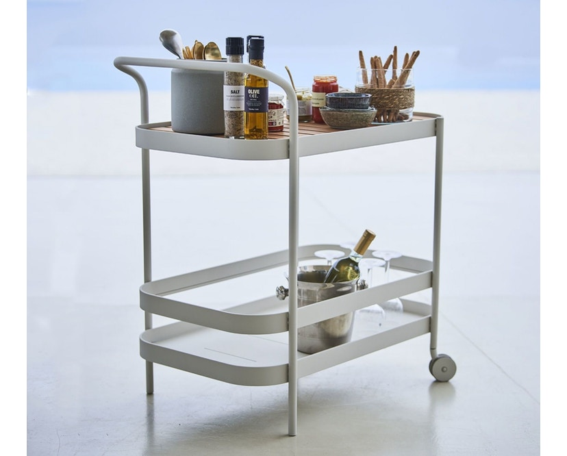 Cane-line - Roll bar trolley - wit - 9