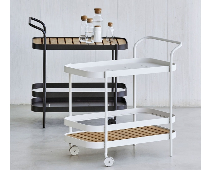 Cane-line - Roll bar trolley - wit - 8
