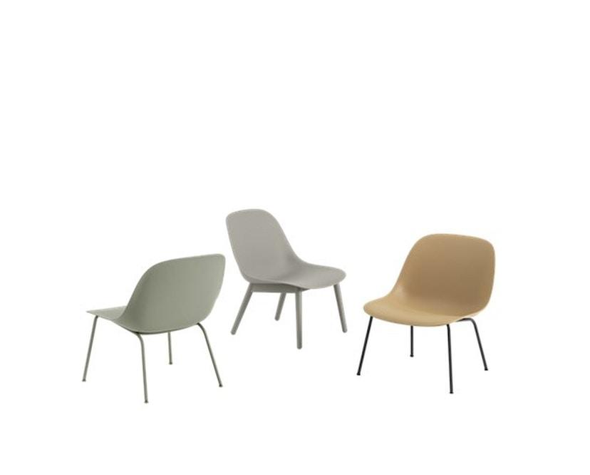 Muuto - Fiber Lounge Stuhl - Rohrgestell Shell Base - schwarz - 3