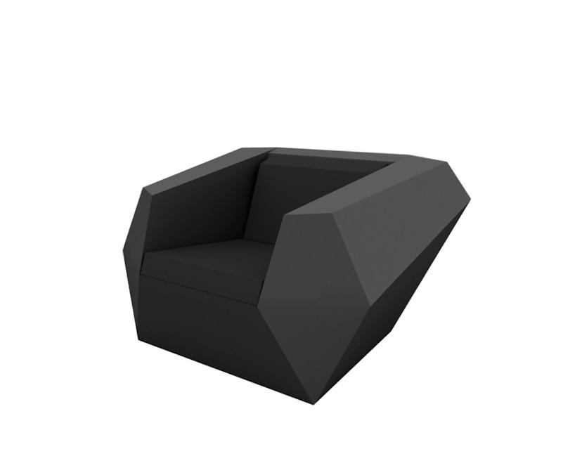 Vondom - FAZ Lounge Sessel - anthrazit - 0
