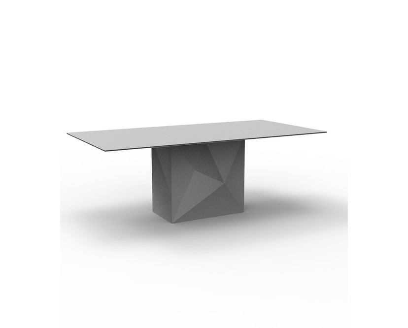 Vondom - FAZ tafel - basic - staalgrijs - 200 x 100 cm - 0