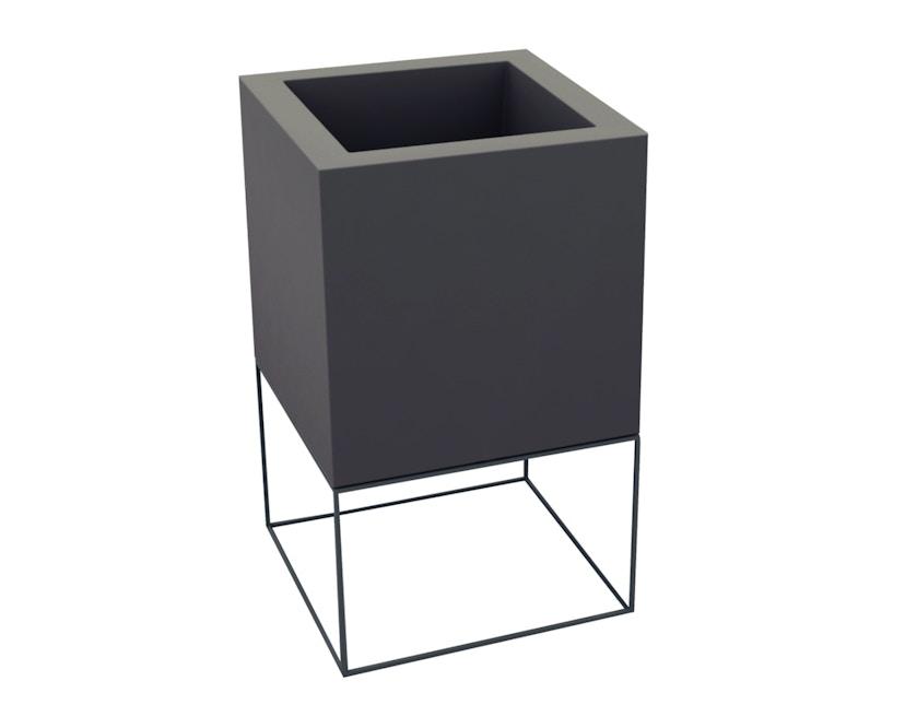 Vondom - VELA Cube Blumentopf - 40x40x70 - basic - anthrazit - 0