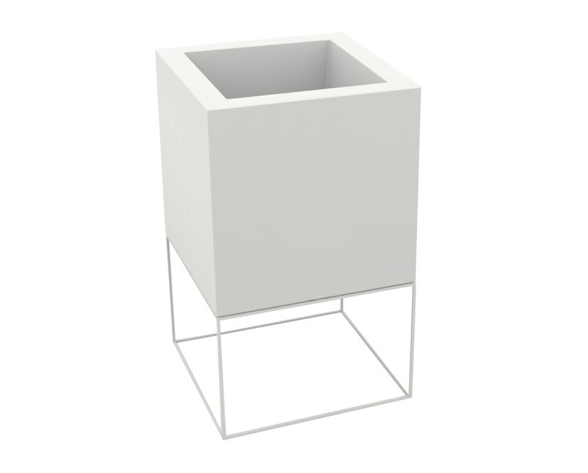 Vondom - VELA Cube Blumentopf - 40x40x70 - basic - weiß - 0