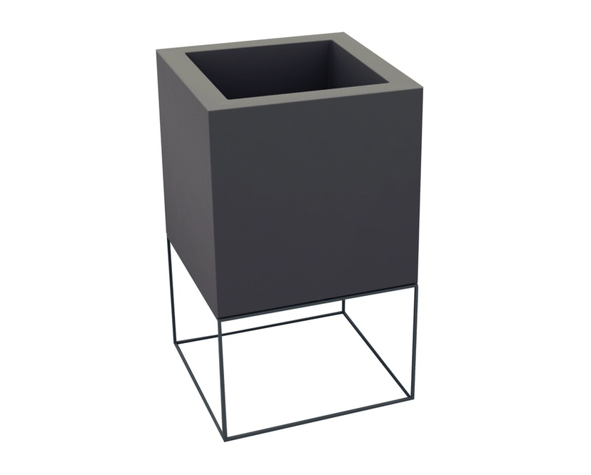 Vondom - VELA Cube Nano Blumentopf - 18x18x36 - basic - anthrazit - 0
