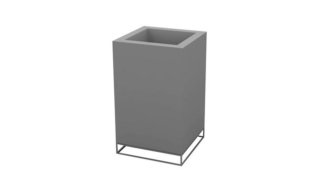 Vondom - VELA High Cube Nano Blumentopf - 18x18x46 - basic - stahl - 0