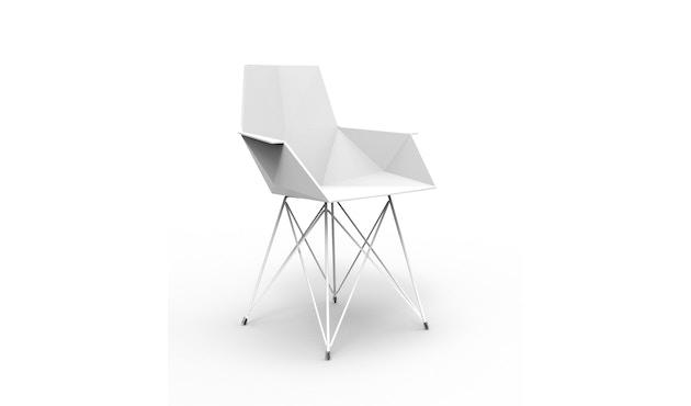 Vondom - FAZ Stuhl mit Armlehnen - Stahlgestell - weiß - 0