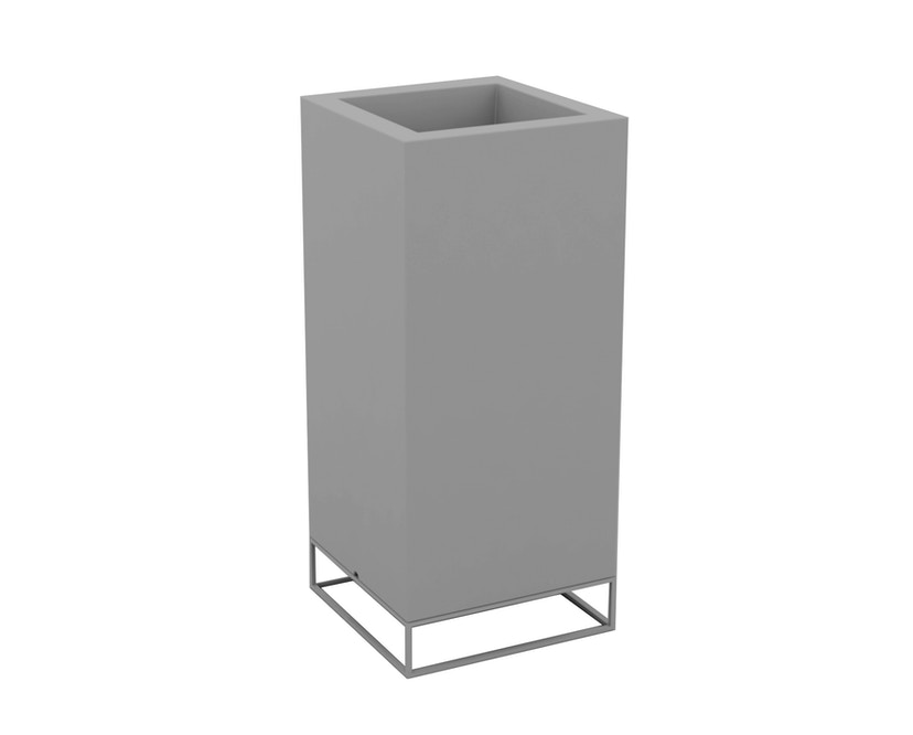 Vondom - VELA High Cube plantenbak - basic - staalgrijs - 40 x 40 x 90 cm - 0
