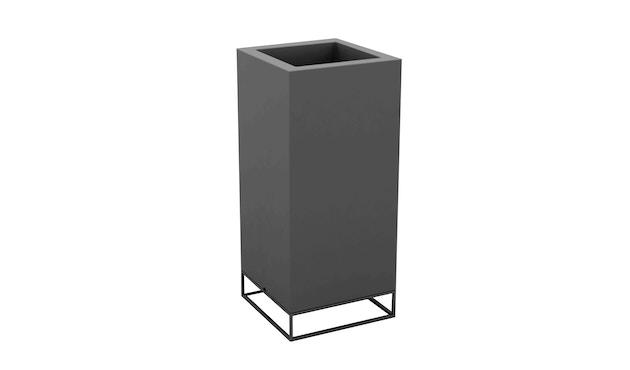 Vondom - VELA High Cube Blumentopf - 40x40x90 - basic - anthrazit - 0