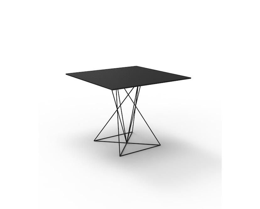 Vondom - FAZ Inox Tisch 90x90 - schwarz - 0
