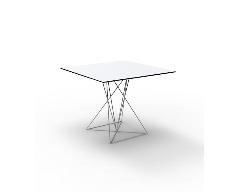 Vondom - FAZ Inox tafel - 70 x 70 cm - wit - 0
