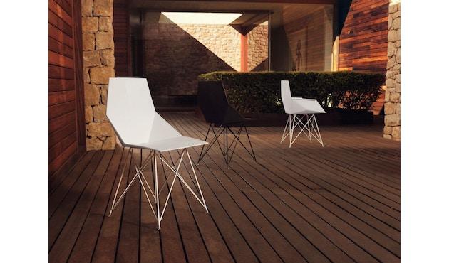 Vondom - FAZ Stuhl mit Armlehnen - Stahlgestell - weiß - 1