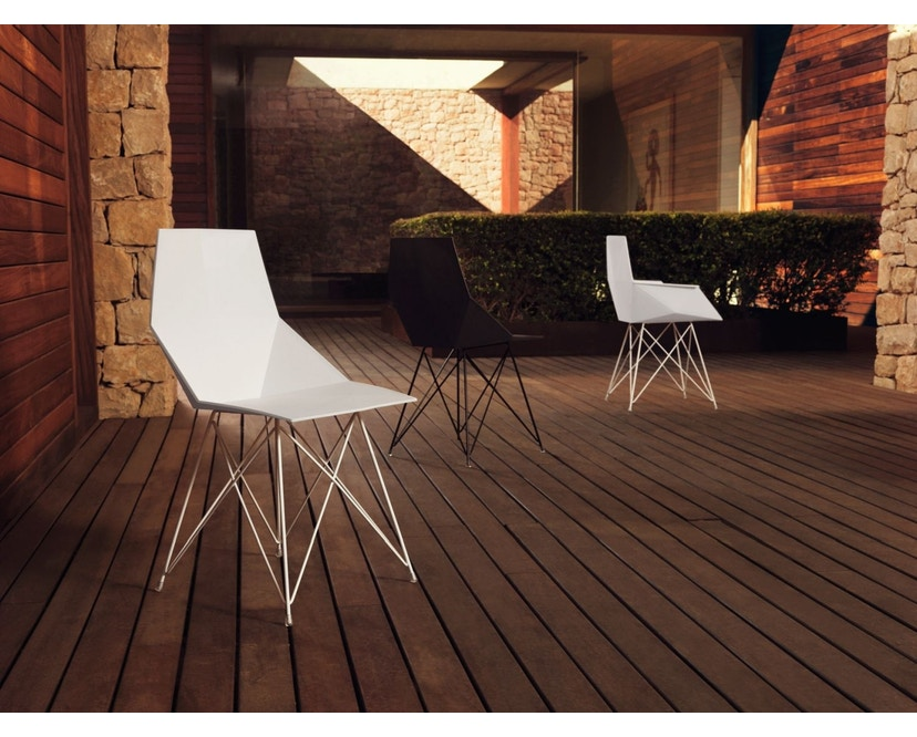 Vondom - FAZ Stuhl mit Armlehnen - rot - 1