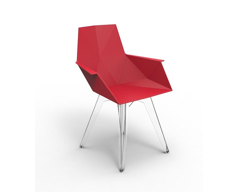 Vondom - FAZ Stuhl mit Armlehnen - rot - 0