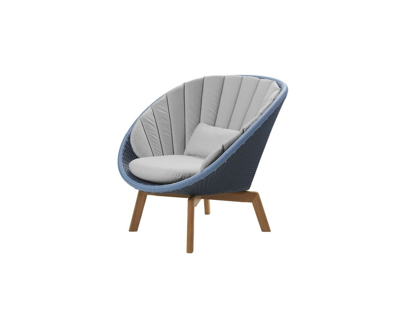 Cane-line - Kissensatz für Peacock Loungesessel  - hellgrau - 1