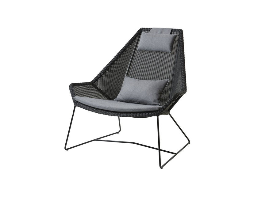 Cane-line - Set kussens voor Breeze highback fauteuil - Natté grijs - 1