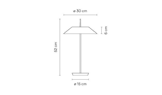 Vibia - Mayfair Tischleuchte - matt weiß - 5