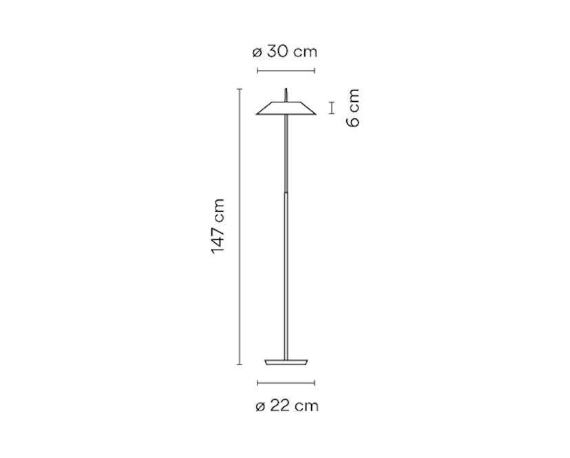 Vibia - Mayfair Stehleuchte - Stahlschirm - matt weiß - 6