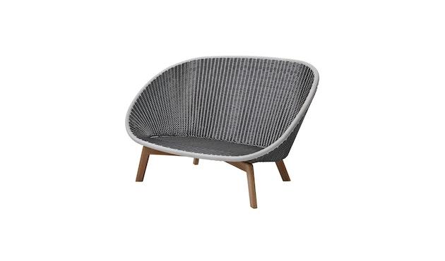 Cane-line - Peacock 2- Sitzer Sofa - Cane-line Wave - grau - 1