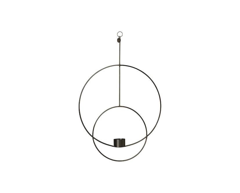 ferm LIVING - Hängendes Teelicht - kreisförmig - schwarz - 1