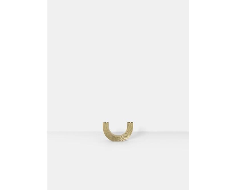 ferm LIVING - Arch Kerzenhalter - messing - 2